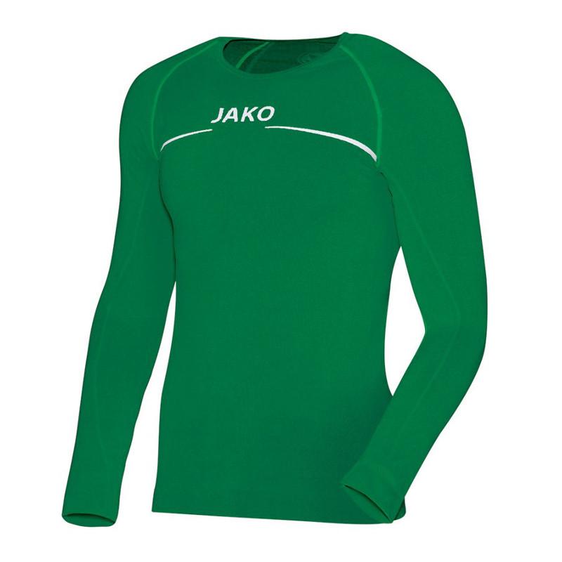 Jako Longsleeve Comfort Herren sportgrün Rundhals Pullover Sweatshirt Langarm
