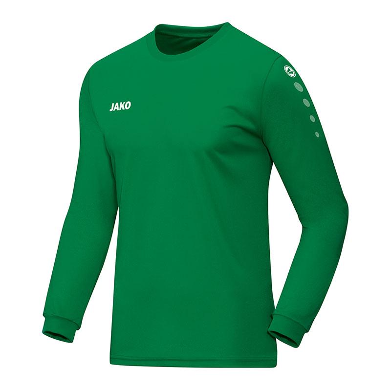 eac04b2fe5d La imagen se está cargando Jako-Team-de-manga-larga-camiseta-verde-F06