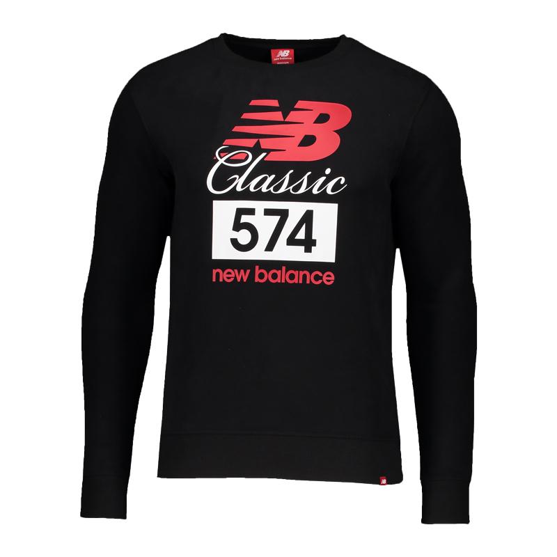 NEW BALANCE mt81574 Sweat noir F8
