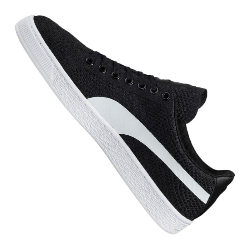 PUMA Basket Classic F01 Evo Knit Sneaker Schwarz F01 Classic b4cd1d