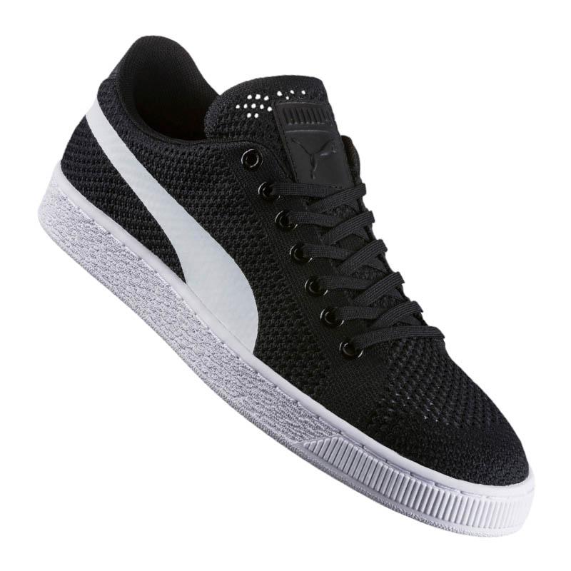 Puma PALLACANESTRO Classic Evo lavorato a maglia Sneaker Nere F01