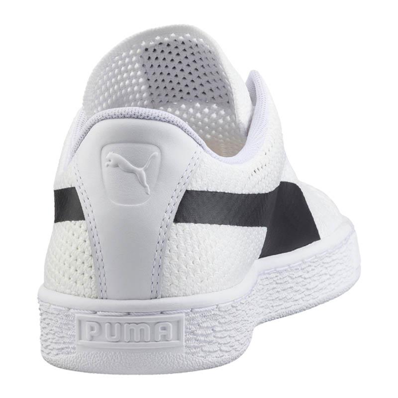 Puma Basket Classic EVO Blanc Knit Sneaker Blanc EVO f02- 1f1377