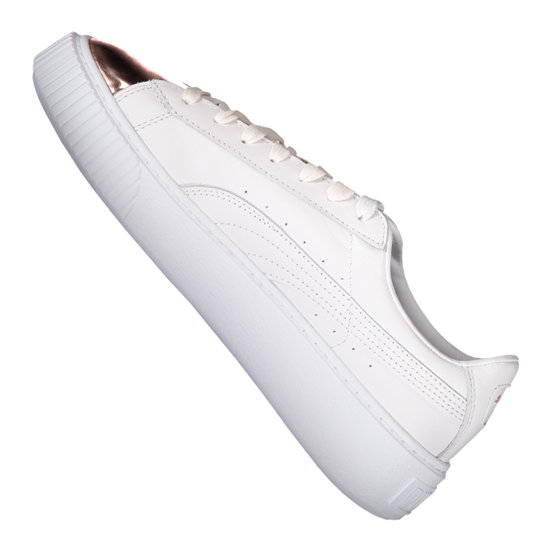 Puma-Basket-Platform-Metallic-Sneaker-Women-039-s-F03