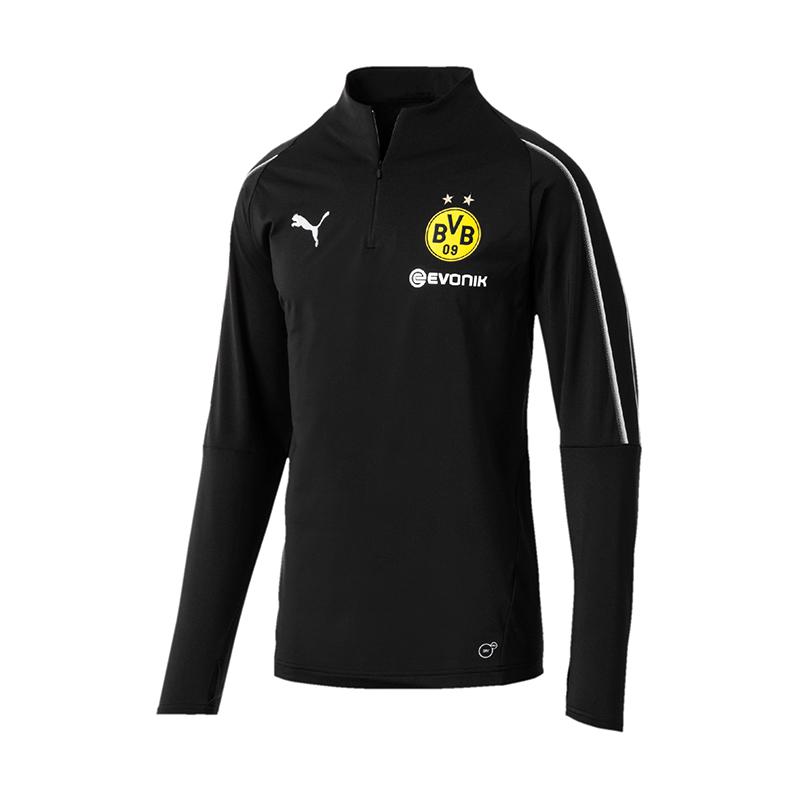 PUMA BVB Dortmund Training 1/4 Zip Training Dortmund Top Schwarz F02 099b80