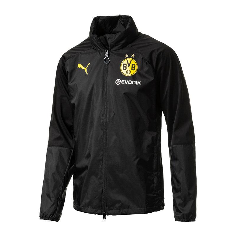 Puma Bvb Dortmund Lluvia Top Chaqueta Impermeable black F02