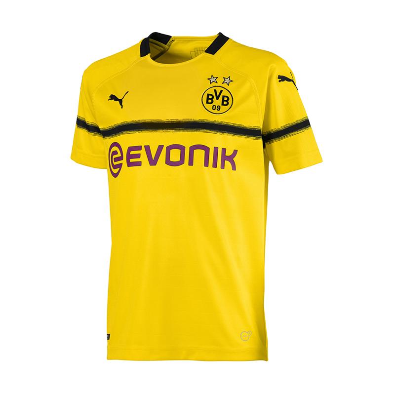new style ee4b7 ce2bb Details zu PUMA BVB Dortmund Trikot UCL 2018/2019 Kids F11