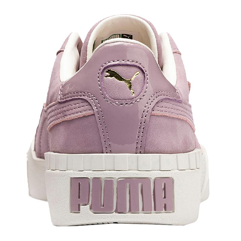 Damen Lila Puma Cali F02 Nubuck Sneaker qwtvz6