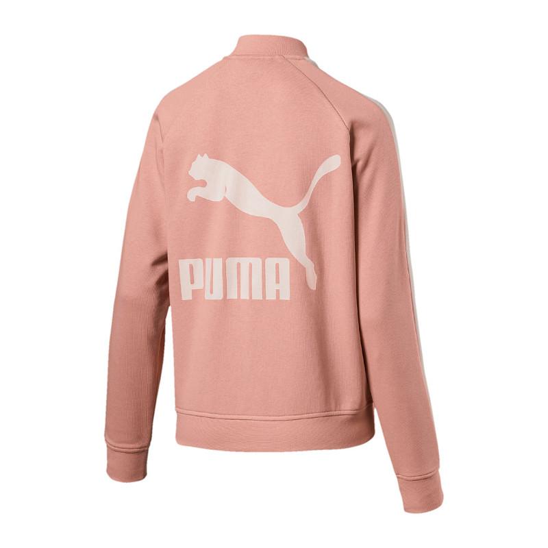 Detalles de Puma Classics Logo T7 Track Chaqueta Mujer Rosa F31