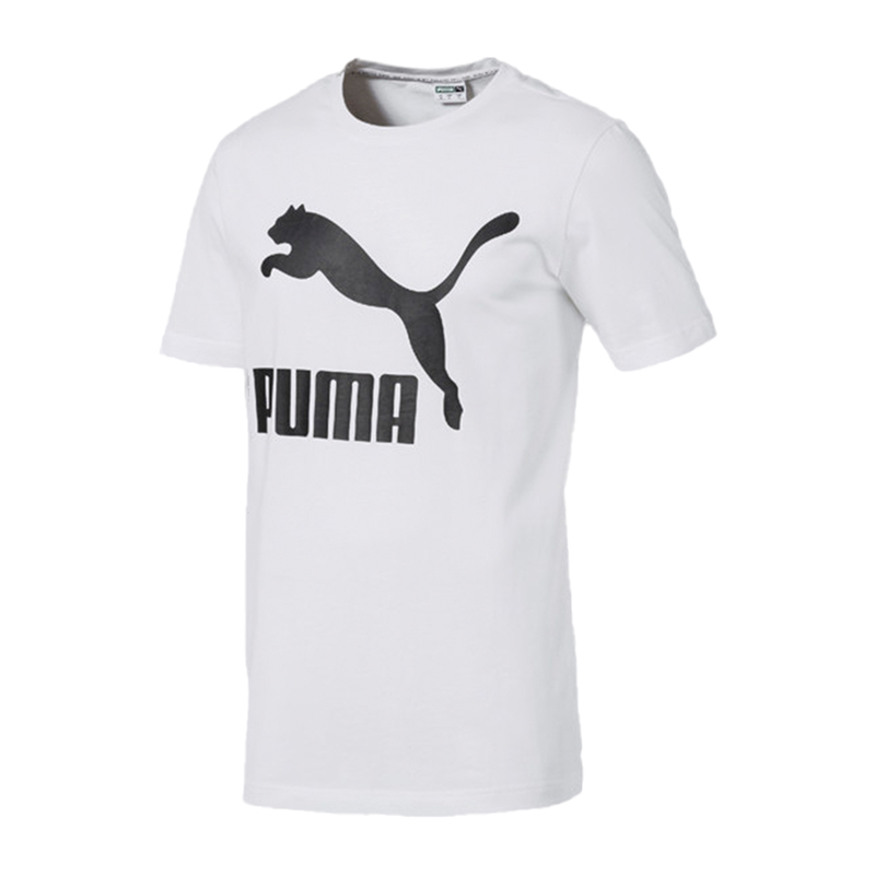 5888001182 PUMA CLASSICHE LOGO Tee T-Shirt Bianco F02