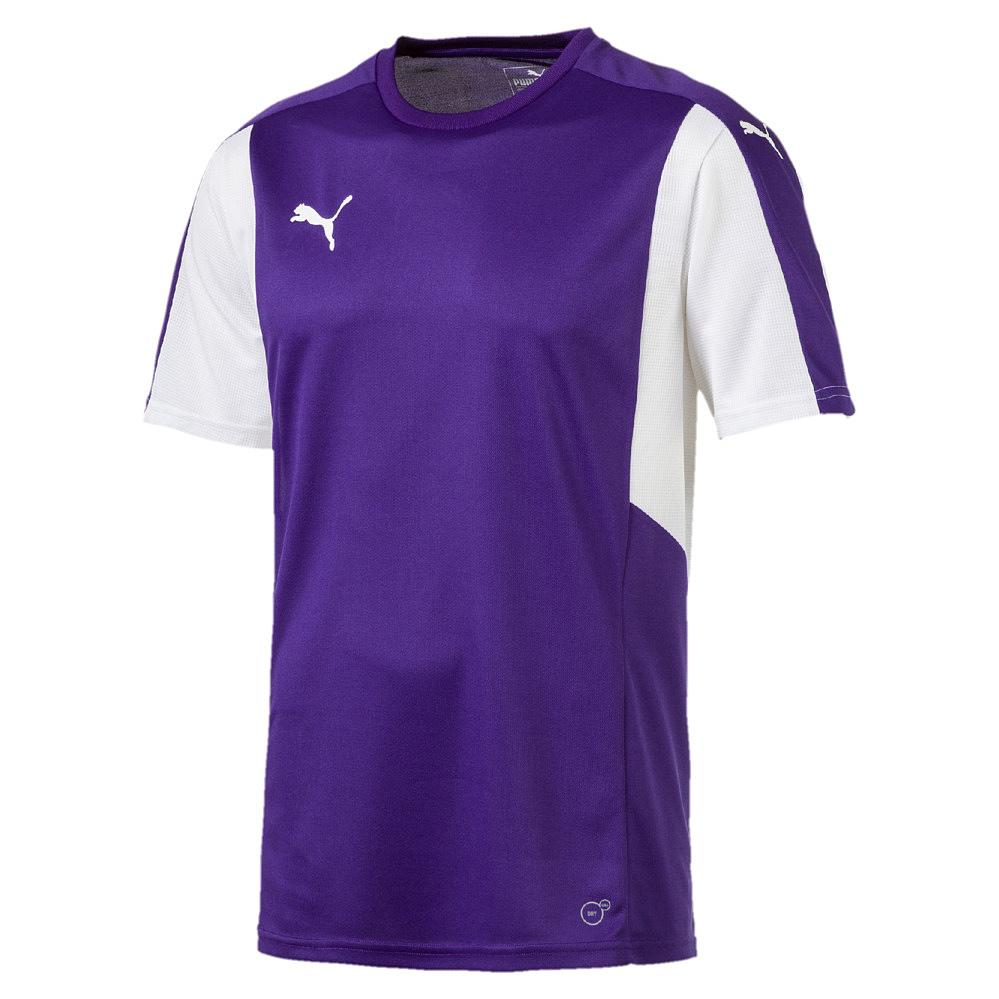Puma-Dominate-Camiseta-manga-corta-Purpura-Blanco-F10