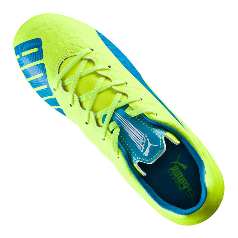 PUMA Evo Speed 4.4 FG Kids Gelb Blau F04