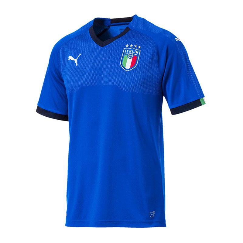 Puma Italia Camiseta Local WM 2018 Azul F01