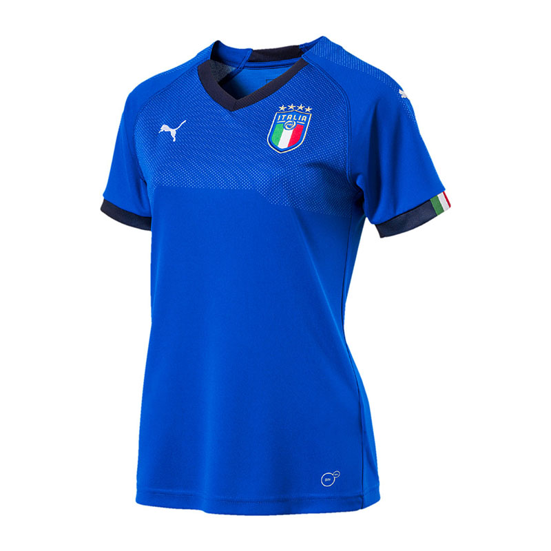 Puma Italia Home Jersey WM 2018 Mujer Azul F01