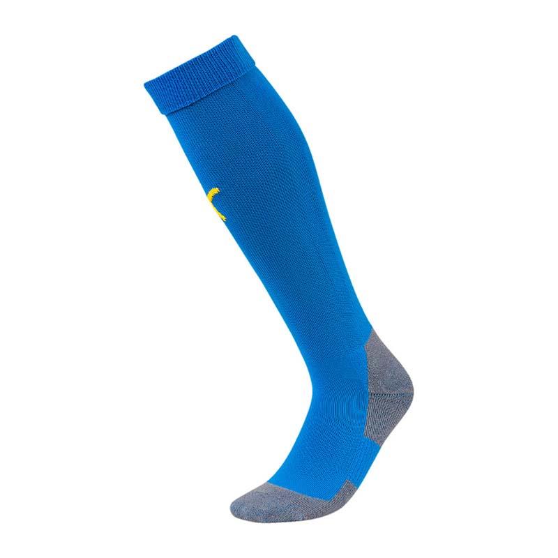PUMA LIGA Socks Core Stutzenstrumpf Blau Gelb F16
