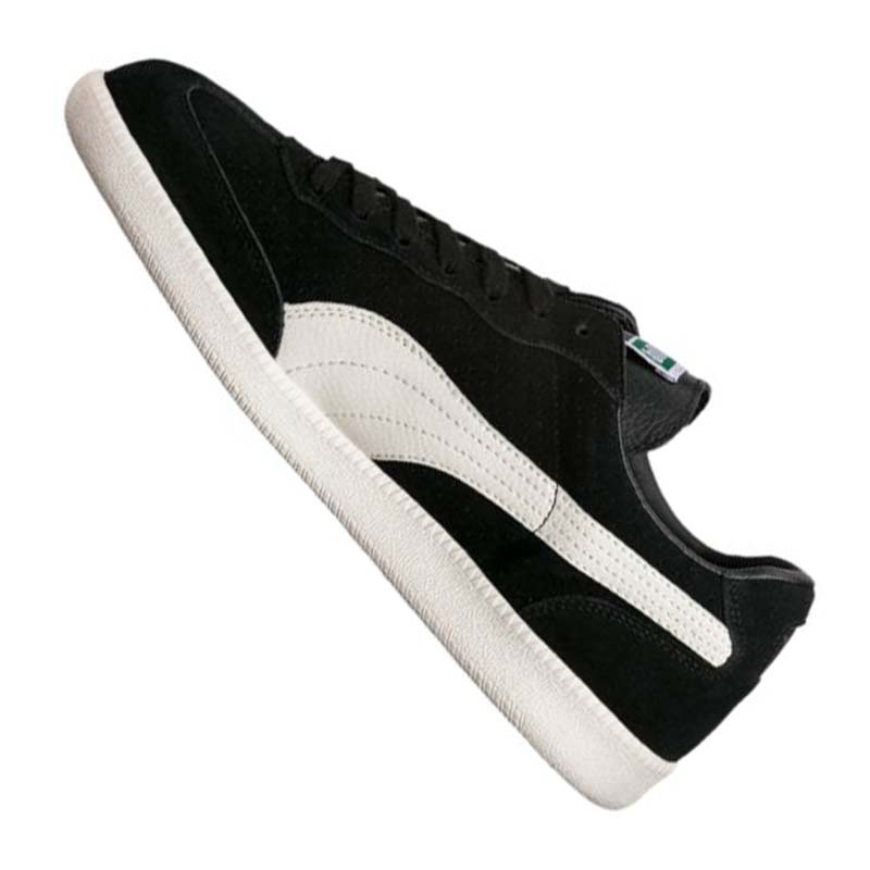 puma liga suede perf sneaker schwarz weiss f01 ebay. Black Bedroom Furniture Sets. Home Design Ideas
