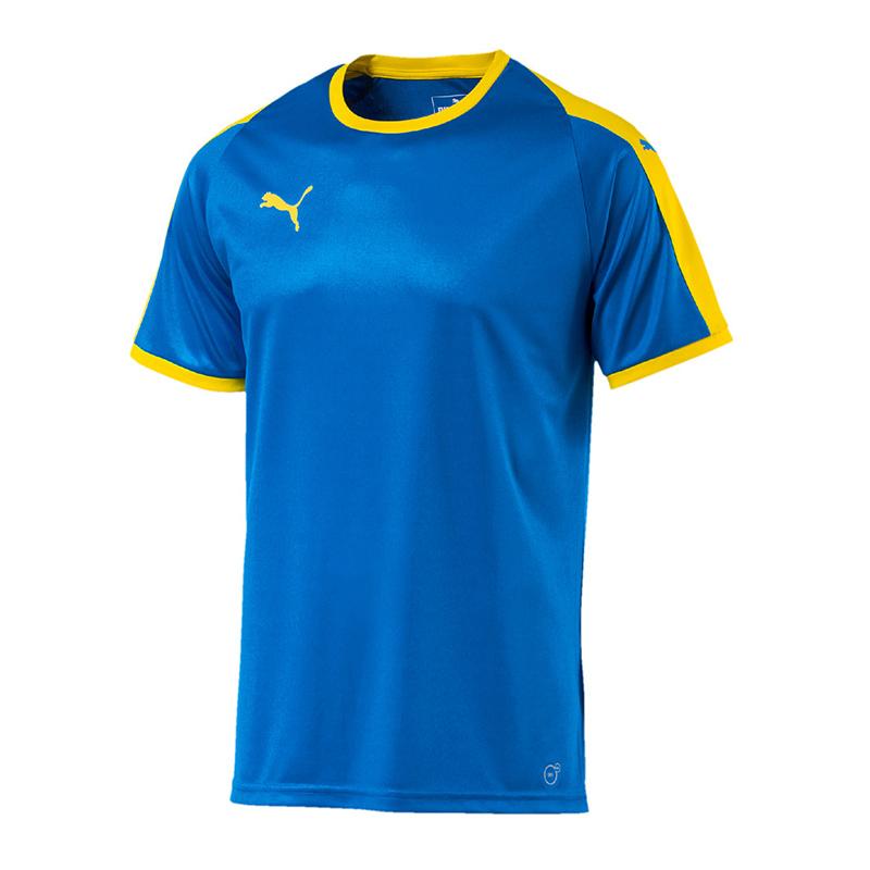 Puma-Liga-Camiseta-Manga-Corta-Amarillo-Azul-F16