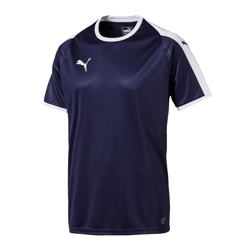 Puma-Liga-Camiseta-Manga-Corta-Azul-Blanco-F06