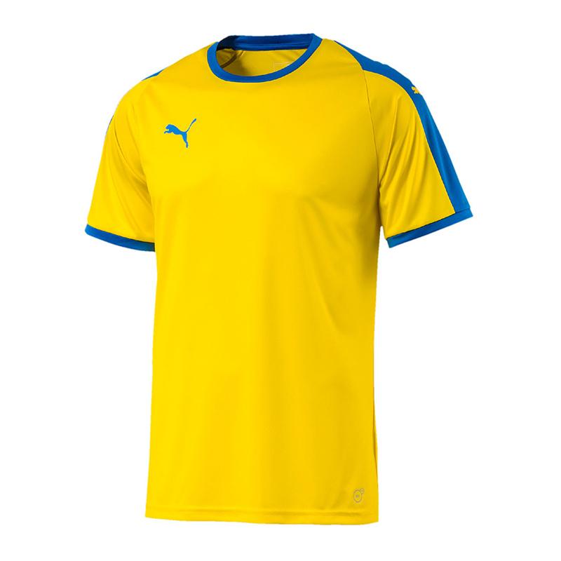 Puma-Liga-Camiseta-Manga-Corta-Amarillo-Azul-F17