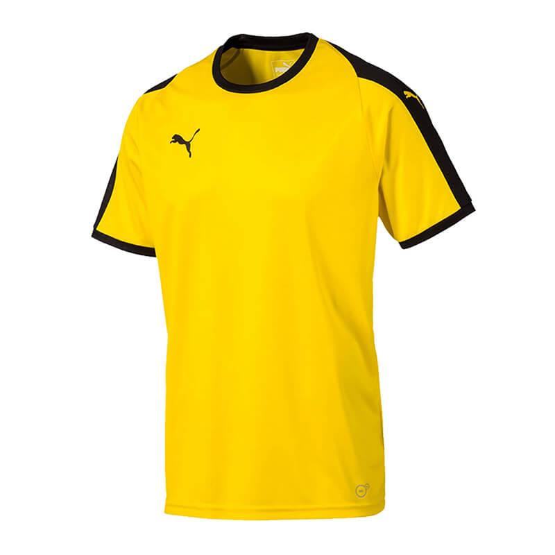 PUMA-LIGA-Camiseta-manga-corta-amarillo-negro-F07
