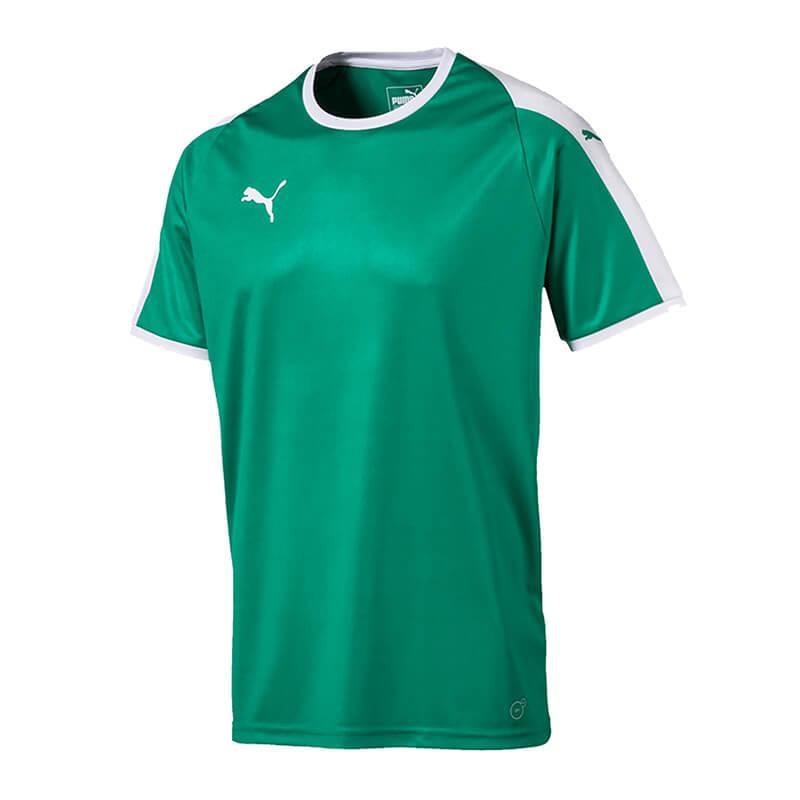 PUMA-LIGA-Camiseta-manga-corta-verde-blanco-F05
