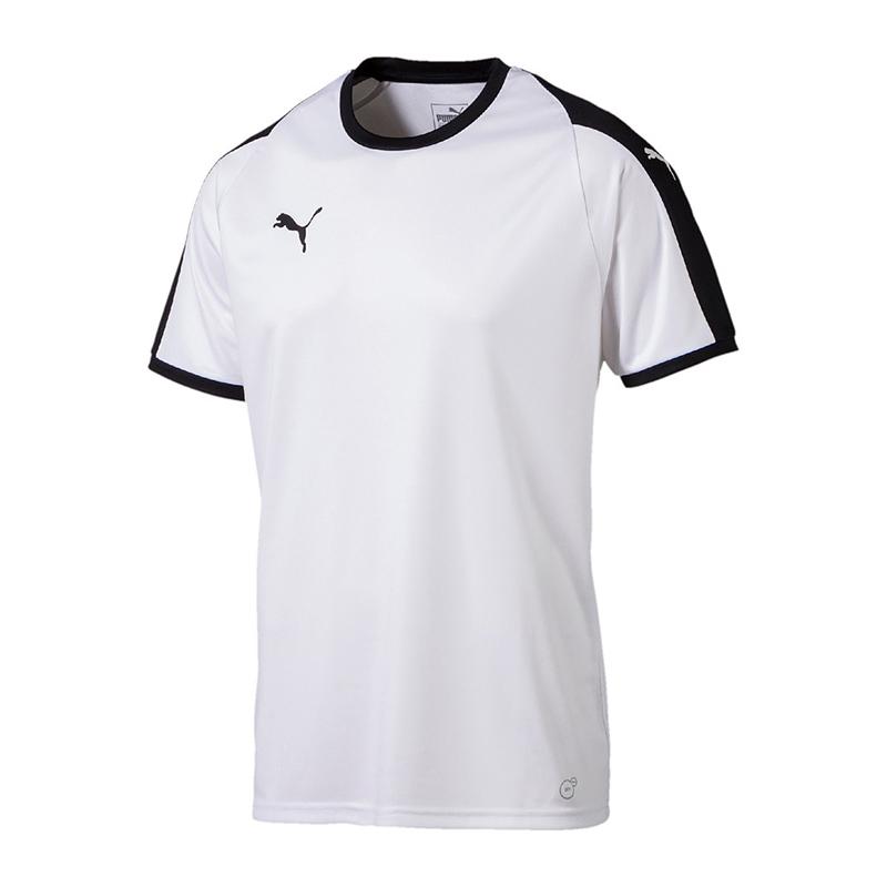 Puma-Liga-Camiseta-Manga-Corta-Ninos-Blanco-y-Negro-F04