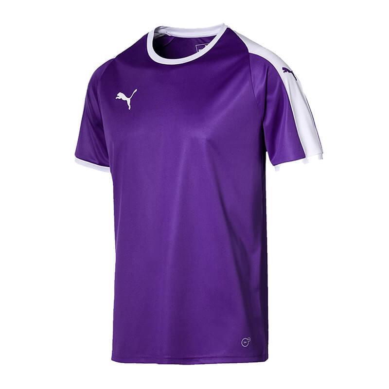 Puma-Liga-Camiseta-Manga-Corta-Purpura-Blanco-F10