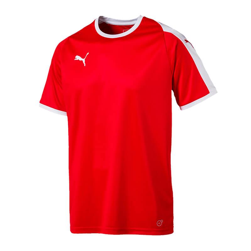 Puma-Liga-Camiseta-Manga-Corta-Rojo-Blanco-F01
