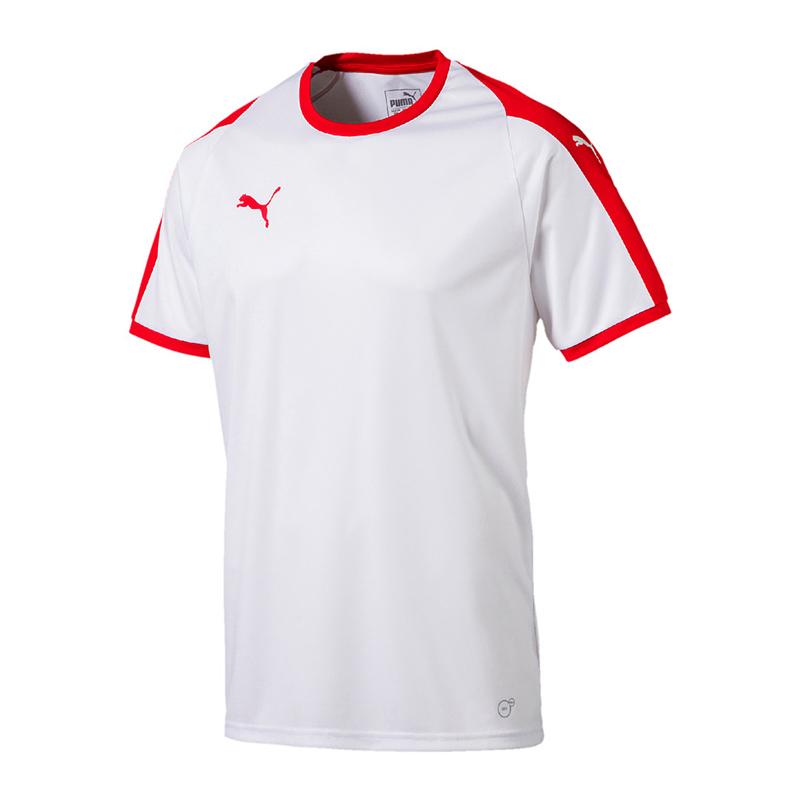 Puma-Liga-Camiseta-Manga-Corta-Blanco-Rojo-F11