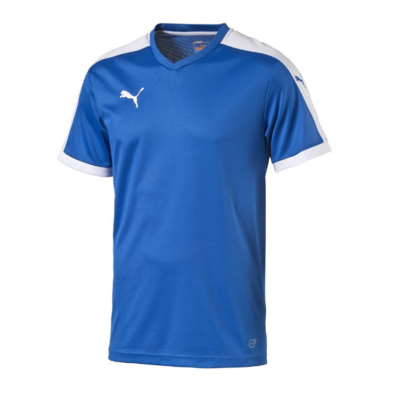 Puma-Pitch-Manga-Corta-Jersey-Camisa-Azul-F02