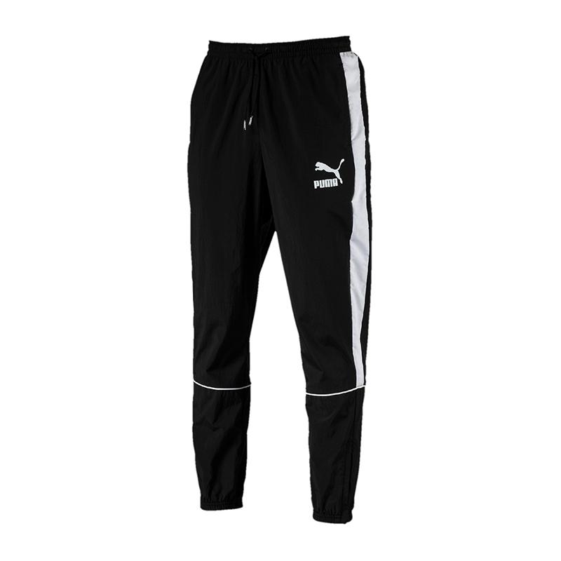 PUMA Retro Woven Pants Hose lang black F01