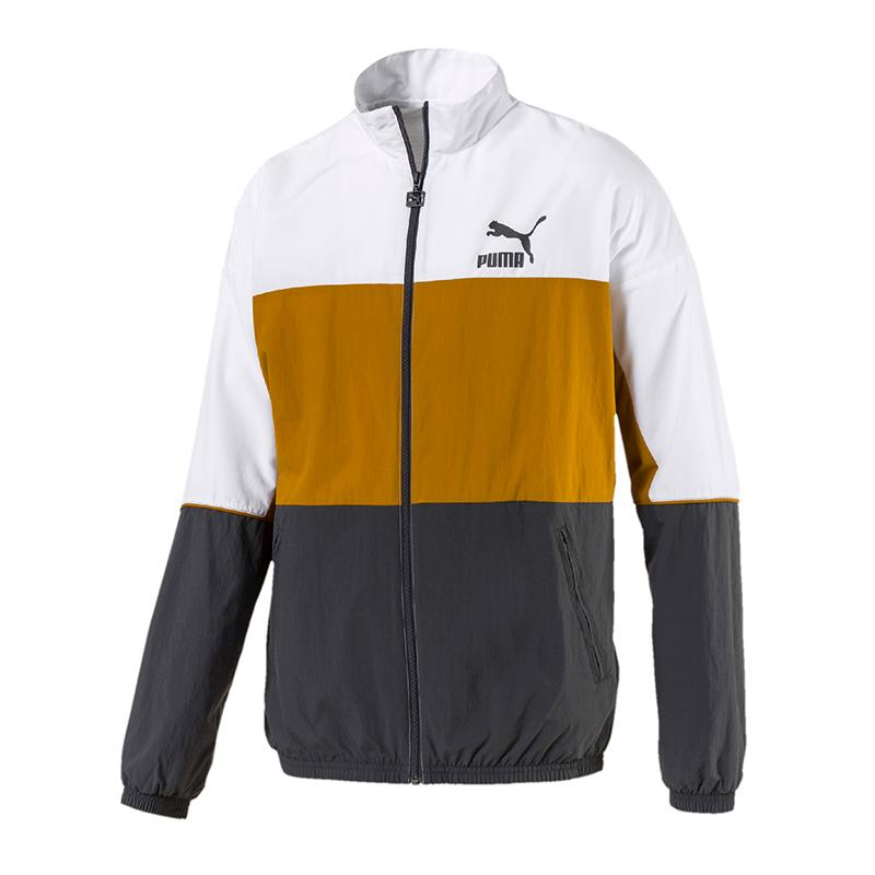 Puma Jacket Grau Track Jacke Woven F14 Retro r4nrAaq1