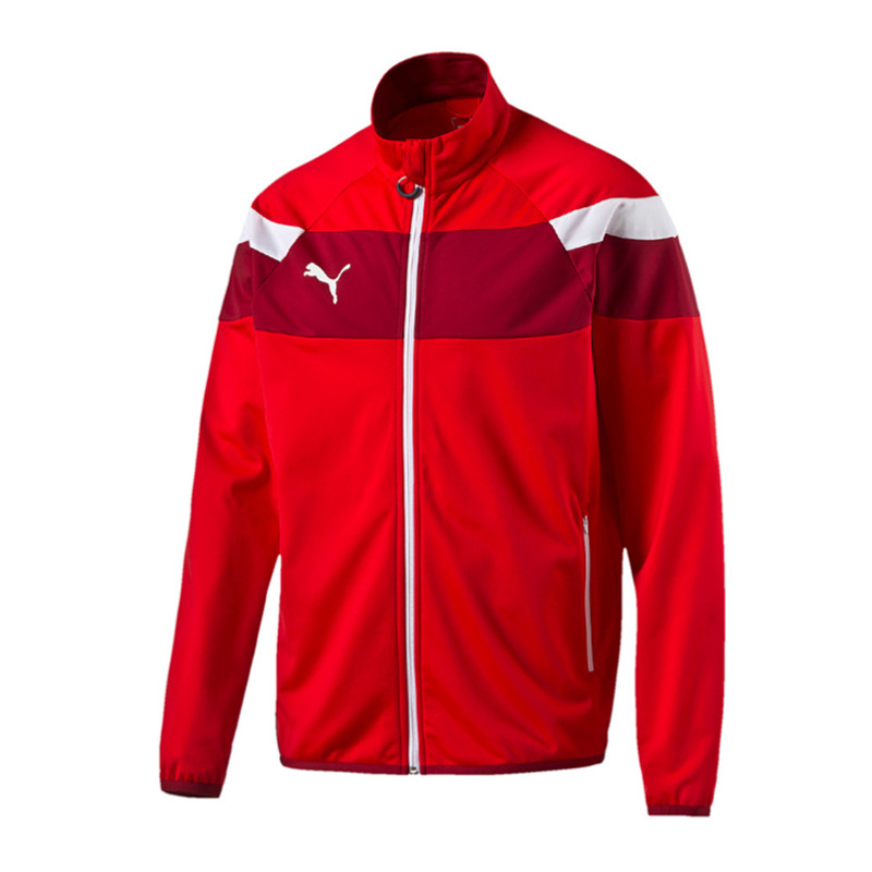 PUMA Spirit II Polyester Tricot Jacke Rot F01 | eBay