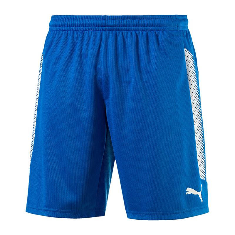 PUMA Striker blanc shorts avec slip intérieur bleu blanc Striker F02 682792