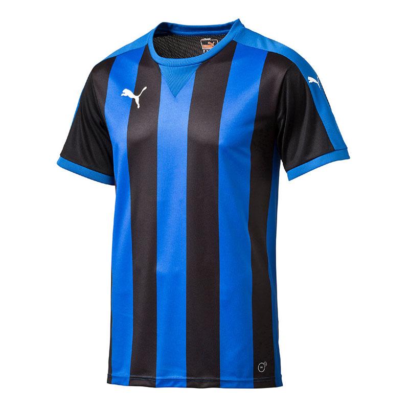 ae5e76265 La imagen se está cargando Puma-a-rayas-camiseta-manga-corta-azul-negro-
