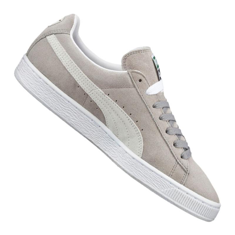puma suede gris blanc