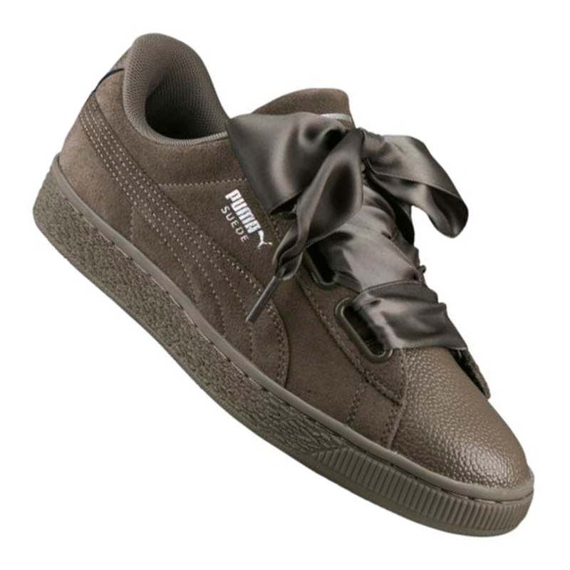 best service 9f5cd 94a5a PUMA SUEDE HEART Bubble Sneaker Women's Khaki F03