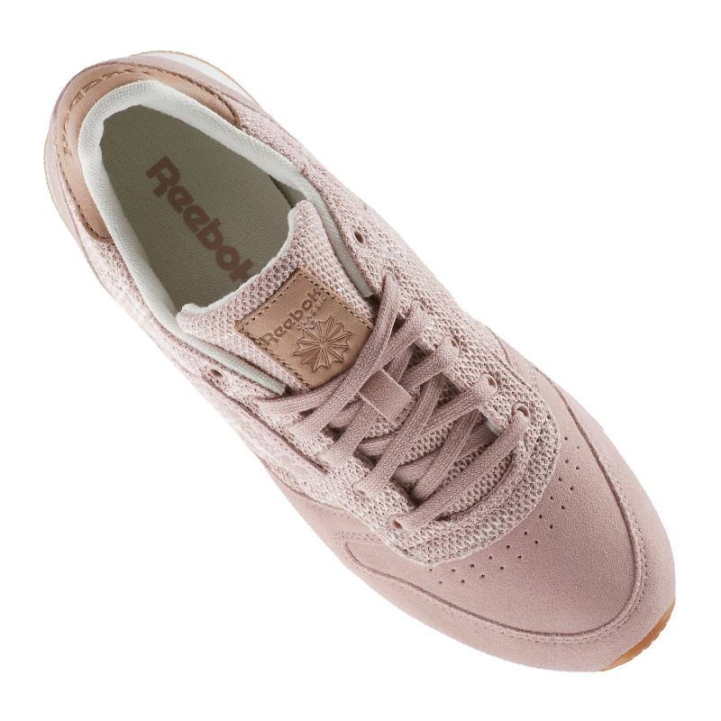 Reebok Classic Leder Leder Leder EBK Sneaker Damen Pink d4cf4b