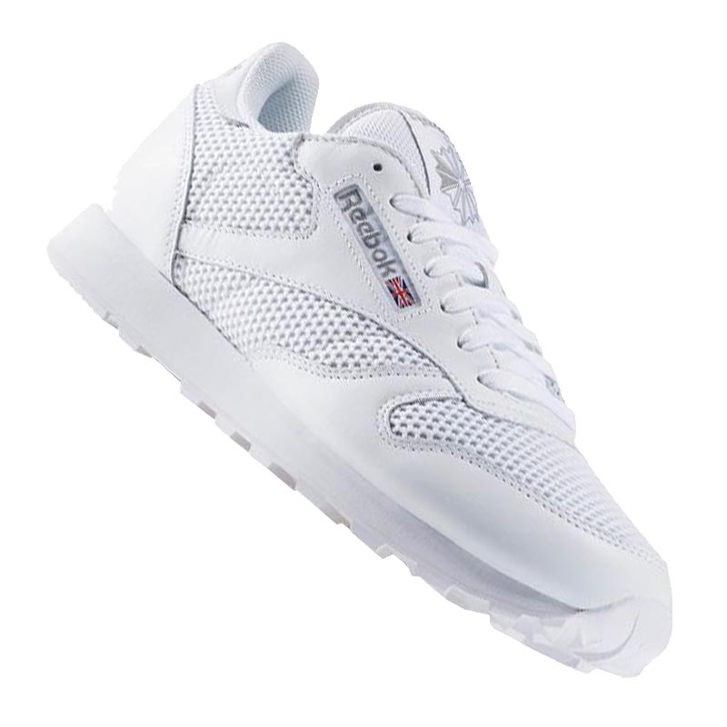 reebok classic leather knit sneaker weiss ebay. Black Bedroom Furniture Sets. Home Design Ideas