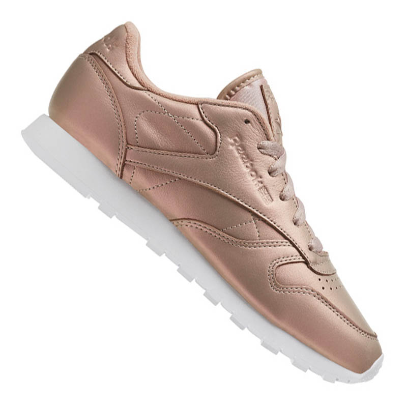 reebok classic leather pearlized damen rosa weiss ebay