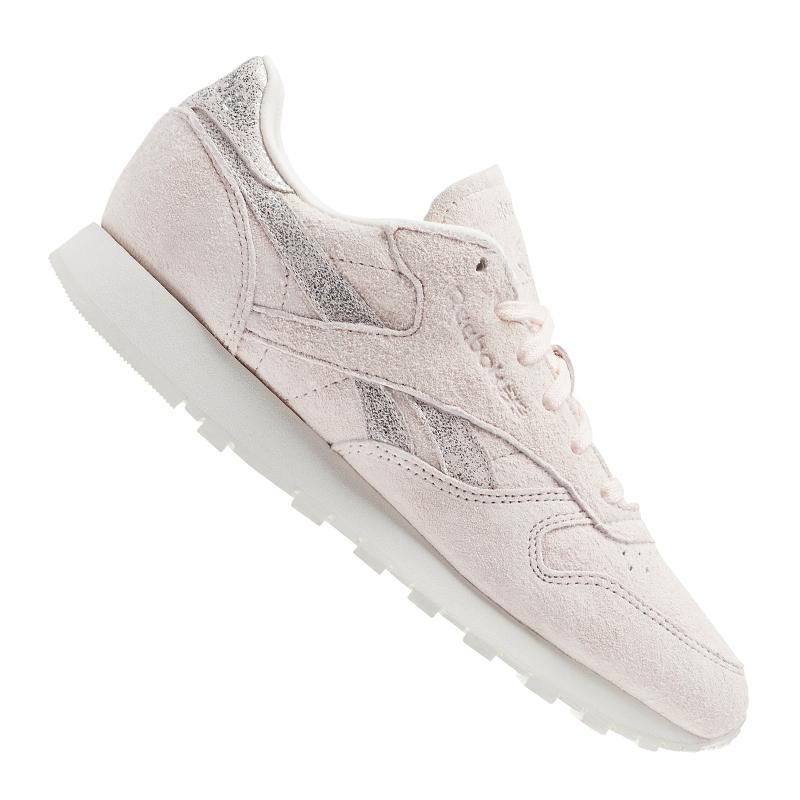 Reebok-Classic-Leather-Shimmer-Sneaker-Women-039-s-Rosa