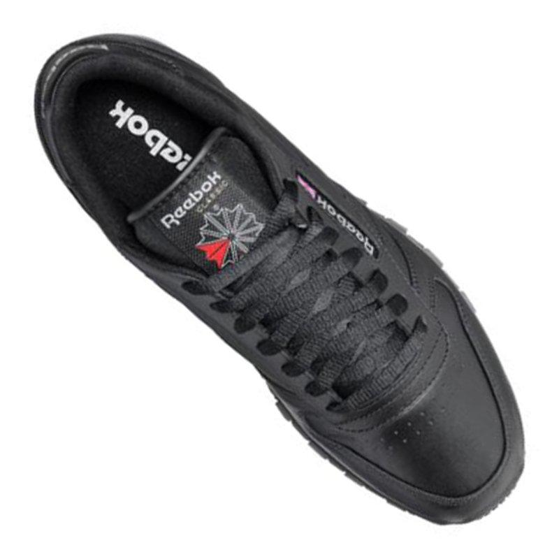 Billig gute Qualität Reebok Classic Leather Sneaker Schwarz