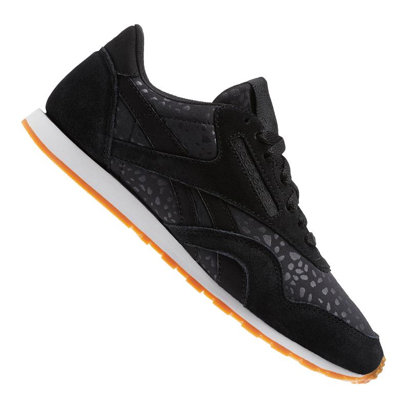 Reebok Classic Nylon  Text Sneaker Damen Schwarz    Nylon  6778be