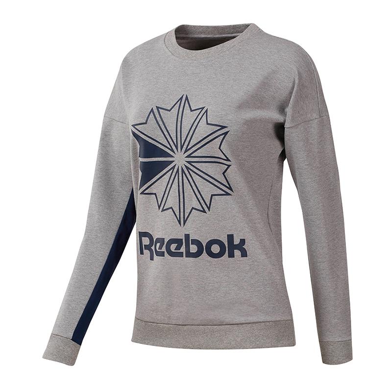 Reebok Classiche ft Grande Logo Sweatshirt Donna Grigio