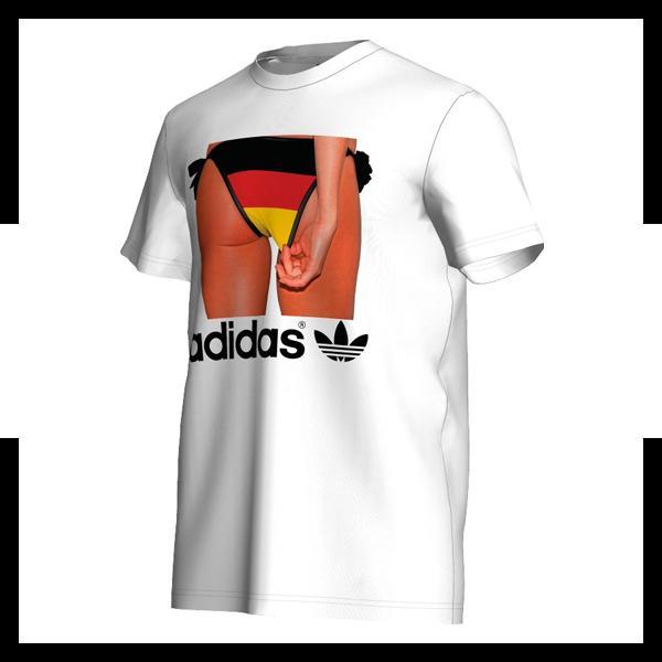 adidas adibottom tee t shirt mens weiss schwarz ebay. Black Bedroom Furniture Sets. Home Design Ideas