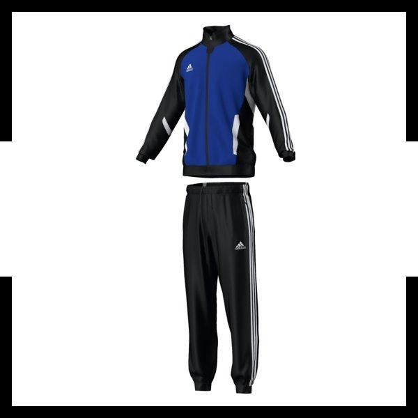 adidas tiro 11 trainingsanzug polyester blau. Black Bedroom Furniture Sets. Home Design Ideas