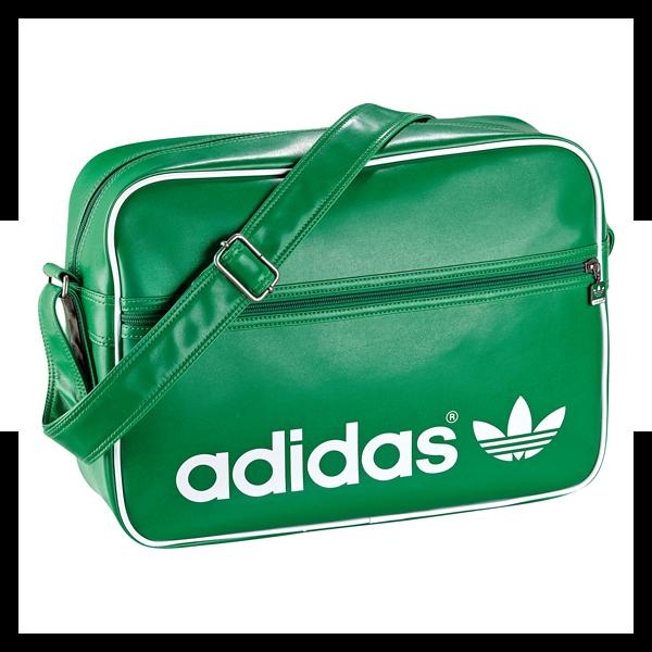adidas airline bag retro tasche gr n weiss ebay. Black Bedroom Furniture Sets. Home Design Ideas