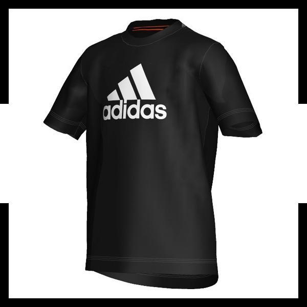 adidas ess logo tee kids t shirt schwarz weiss ebay. Black Bedroom Furniture Sets. Home Design Ideas