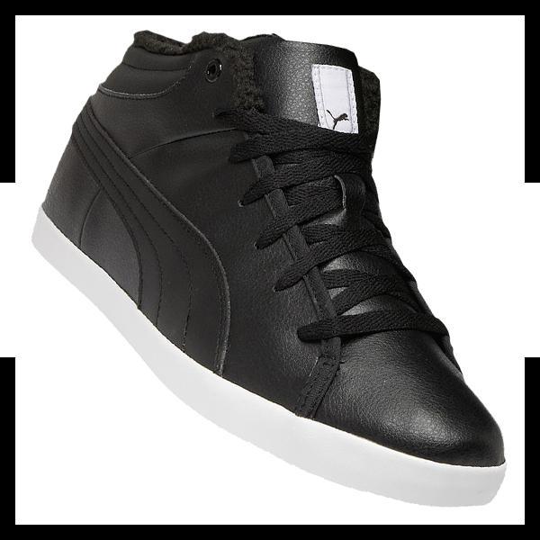 puma elsu mid winter sneaker schwarz weiss f01 ebay. Black Bedroom Furniture Sets. Home Design Ideas