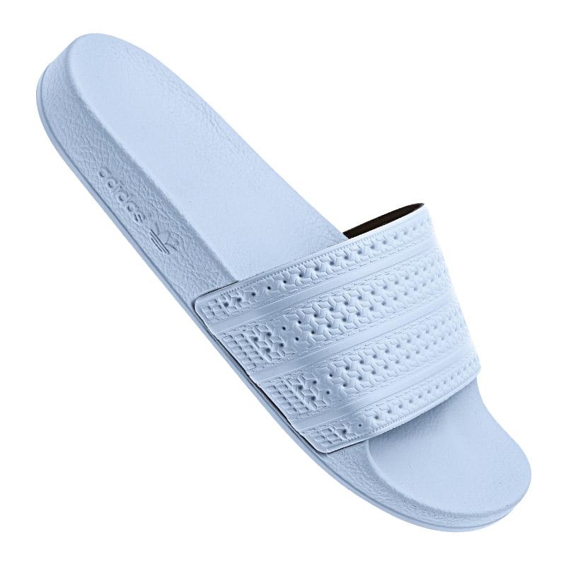 Gentlemen/Ladies adidas Adilette use Badelatschen Hellblau Easy to use Adilette new negotiation a90e27