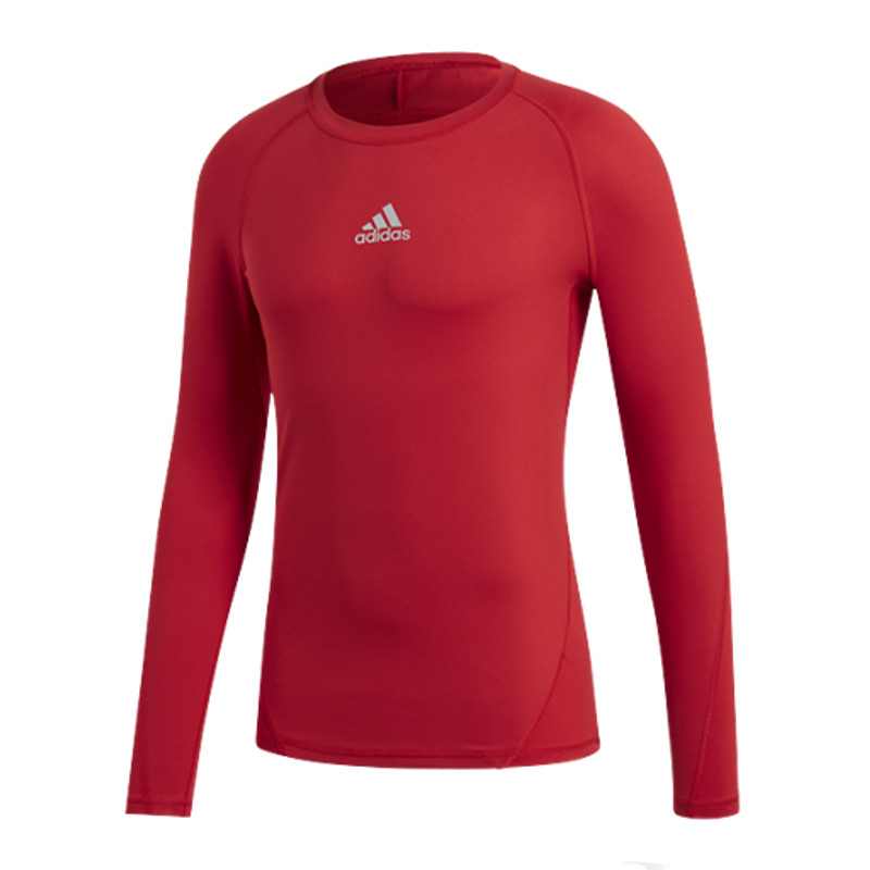 Adidas Alpha Skin Shirt Long Sleeve Kids Red